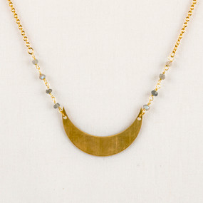 Labradorite & Moon Necklace