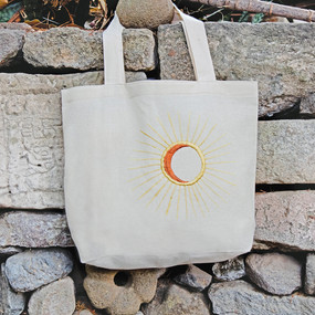 Embroidered Eclipse Tote