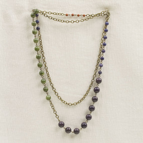 Long Stone Colorblock Necklace