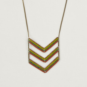 Long Triple Chevron Necklace