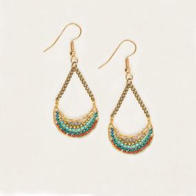 Half Moon & Chain Earrings