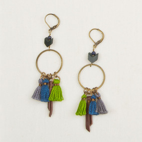 Tassel, Hoop & Stone Earrings