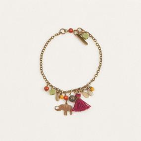Stone & Charm Bracelet