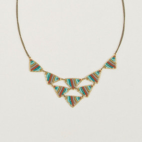 Bead & Wire Multi Triangle Necklace