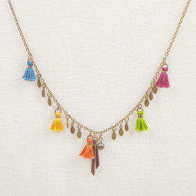 Multi Colored Tassel Necklace*
