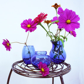 Recycled Glass Vase Trio