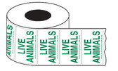 Green Live Animal Shipping Labels - roll 500