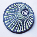Patch - Blue/Green Rays With Om