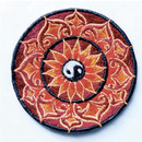 Red/Orange Lotus With Yin Yang Patch