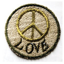 Hemp Peace And Love Patch