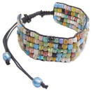Adjustable Multi Color Beaded Bracelet