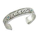 Base Metal Cuff Om Mani Padme Hum