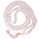 Rose Quartz Prayer Mala - 108 Beads 36""