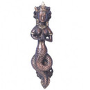 Naga Brass Door Handle With A Twist