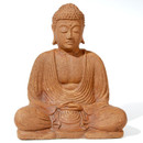 Meditation Buddha In Sandstone, 8.5 Inches