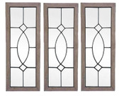 Accessories Abroad Wood/Iron Mirror Frame Set of 3