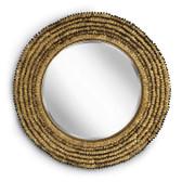 Regina Andrew Gold Leafed Round Petal Mirror