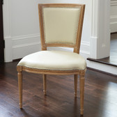 Global Views Marilyn Side Chair-Ivory Leather