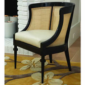 Global Views Cane Chair-Black