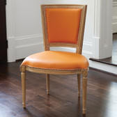 Global Views Marilyn Side Chair-Orange Leather