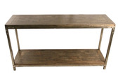 Console Table-Mango Wood and Metal