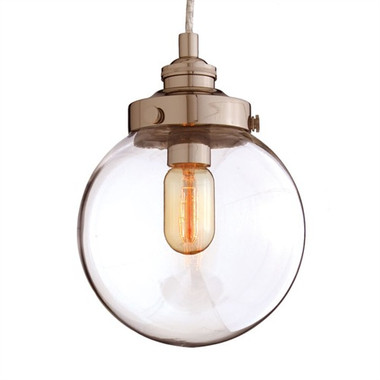 Arteriors Reeves Pendant, Polished Nickel, Small
