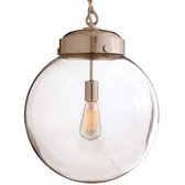 Arteriors Reeves Pendant, Polished Nickel, Large