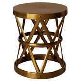Arteriors Costello Side Table, Antique Brass