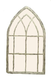 Accessories Abroad Wooden Frame Cathedral Mirror