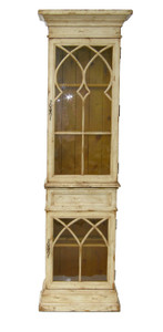 Accessories Abroad White 2 Door Display Cabinet