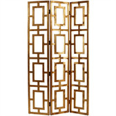 Arteriors Gilded Wood Open-Work Screen