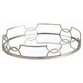 Arteriors Cinch waist Oval Iron Mirror Tray