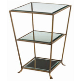 Arteriors Nick Iron Glass Mirror Side Table