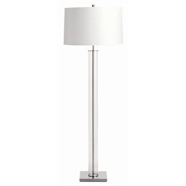 Arteriors Norman Glass Polished Nickel Floor Lamp