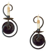 Currey and Company Iron Flourish Wall Sconce, Set