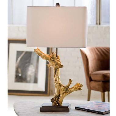 Regina Andrew Gilded Driftwood Lamp