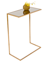 Worlds Away Cigar Table - Gold Leaf