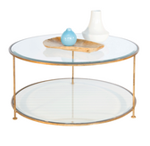 Worlds Away Rollo Coffee Table Gold Leaf