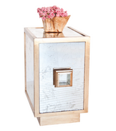 Worlds Away Savannah Antiqued Mirror End Table