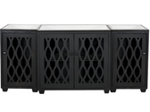 Worlds Away Big Sur 3 Piece Media Cabinet in Black