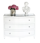 Worlds Away Natalie White Bow Front Dresser