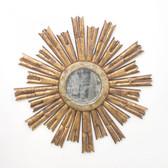 Worlds Away Rinaldo Starburst Mirror in Gold Leaf