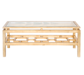 Worlds Away Pierre Gold Leafed Coffee Table