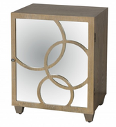 Worlds Away Leah Nightstand in Limed Oak Finish-Left Hand Opening