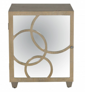 Worlds Away Leah Nightstand in Limed Oak Finish-Right Hand Opening