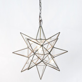 Worlds Away Clear Star Chandelier Medium