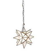 Worlds Away Frosted Star Chandelier-Extra Large