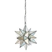 Worlds Away Antique Mirror Star Chandelier-Large