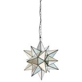 Worlds Away Antique Mirror Star Chandelier-Extra Large