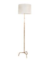 Worlds Away Gold Leaf Bamboo Iron Floor Lamp Base